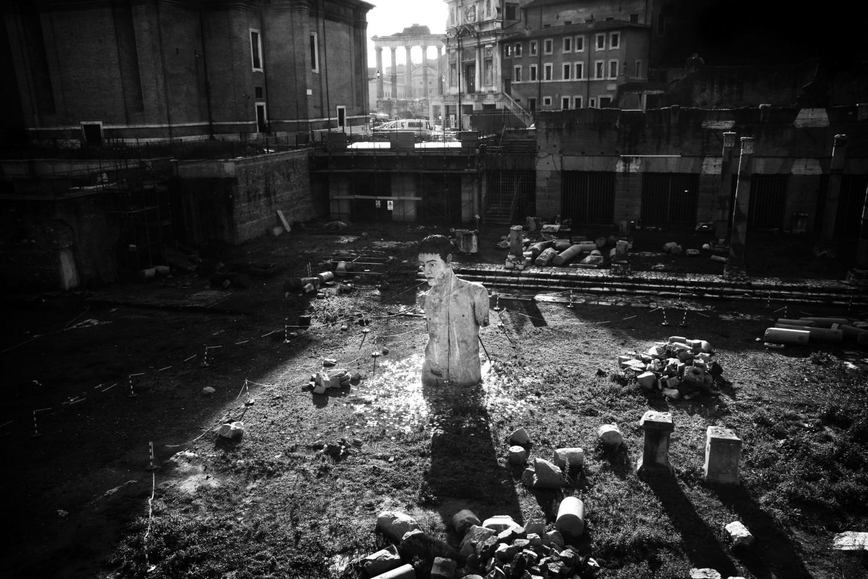 Roma, novembre 2009. Via dei Fori Imperiali.